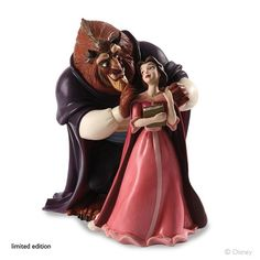 *BEAST/ADAM & BELLE ~ Beauty and the Beast, Walt Disney Classics Collection Belle in a Pink Dress and Beast
