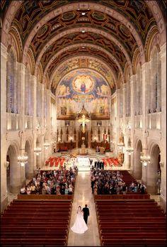 Ideas For Wedding Venues Ohio Toledo Wedding Poses, Wedding Venues, Bride Poses, Wedding Ideas, Cathedral Church, Milan Cathedral, Toledo Cathedral, Catholic Wedding, Here Comes The Bride