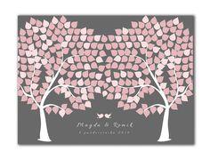 Fotoobraz księga gości weselnych drzewo ślubne