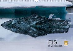 Eis im Jökulsarlon - CALVENDO Kalender von Helmut Gulbins - #calvendo #calvendogold #kalender #fotografie #eis #ice #island