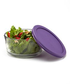 Take a look at this Purple Round 2-Cup Storage Container by Anchor Hocking on #zulily today!