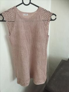 Hullmønster kjole i Tynn Line fra Sandnes garn