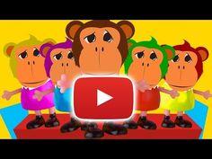 Five Little Monkeys Jumping on the Bed Nursery Rhymes for Kids - 5 little monkeys song - YouTube