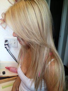 Blonde blonde bangs