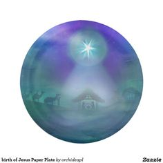 birth of Jesus Paper Plate