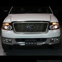 Ford F150 2004 2008 Smoked Halo Projector Headlights With Led Ford F150 2004 Ford F150 F150
