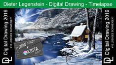 "Dieter Legenstein – Digital Painting 2019 / Picture #13 ""Eisiges Schweigen"" Painting & Drawing, Drawings, Art, Digital Paintings, Legends, Stones, Art Background, Kunst, Sketches"