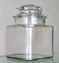 Clear Depression Glass Apothecary Canister Jar By KathatKreations, $8.95