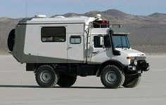 Mercedes Unimog. This would be perfect for roadtrips; etc.