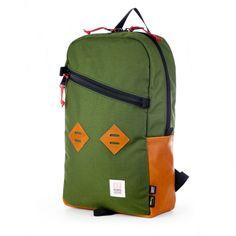 Topo Designs // Daypack - Olive w/leather