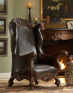 Ambella Home Croc Wing Chair. Now that is a chair .