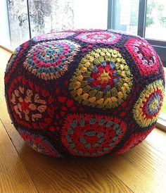 hand crocheted pouffe by the forest & co | notonthehighstreet.com