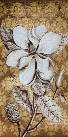 sicis flower power, сичис, купить мозаику, заказать панно сичис, аналог sicis, свеженадоенная мозаика, панно недорого