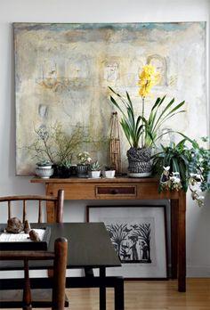 Organizadas as plantas também moram dentro de casa