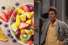 Kramer'in Ağzına Layık: Seinfeld'den Meyve Salatası Tarifi Seinfeld, Raw Food Recipes, Fruit Salad, Strawberry, Den, Fruit Salads, Raw Recipes, Strawberries