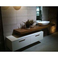The bath point Modern Bathroom Cabinets, Bathroom Countertops, Wood Bathroom, Laundry In Bathroom, Bathroom Layout, Bathroom Furniture, Corner Wall Decor, Shower Basin, Bathroom Design Inspiration