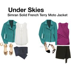 Love all of this: Simran Solid French Terry Moto Jacket. Want a jacket like this but in black or a deeper jewel tone