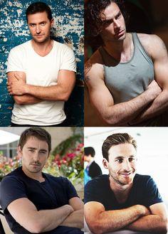 Richard, Aidan, Lee, and Dean..ARMS. GUNS. WHATEVER. IT'S HOT :D especially Aidan Turner's ;)