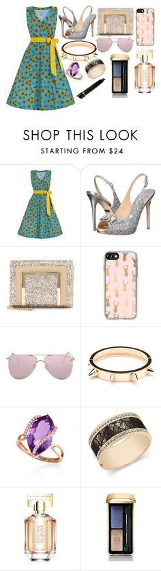 """Sin título #4035"" by onedirection-h1n1l2z1 on Polyvore featuring Badgley Mischka, Jimmy Choo, Casetify, Le Specs, Effy Jewelry, Thalia Sodi, HUGO, Guerlain y Anastasia Beverly Hills"