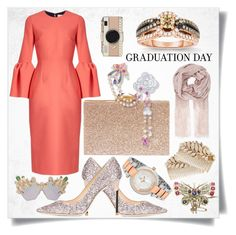 Graduation Day Style by imbeauty on Polyvore featuring Roksanda, Jimmy Choo, KOTUR, Jivago, Valentino, Dolce&Gabbana, Kate Spade, Miriam Haskell and Graduation