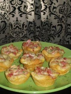 Mini Ham Puffs Recipe from The Pampered Chef  Need a mini-muffin pan - www.pamperedchef.biz/brittanym