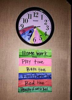 Una idea para fijar los horarios en casa: que sea el reloj el... | Bebesymas | Bloglovin'