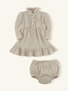 Ruffled Cotton Dress - Dresses & Rompers  Layette Girl (Newborn–9M) - RalphLauren.com Family Photo