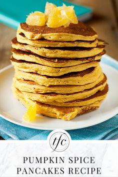 Pumpkin Spice Pancakes Recipe | Healthy Breakfast Recipe | Gluten-Free | Vegetarian | Vegan |