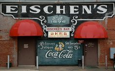 Legendary fried chicken at Eischen's Bar, Okarche, OK  This is the longest continually operating business in the state of Oklahoma