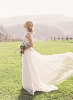 The Claudine Gown by @jennyyoo is so romantic!   Photography: Caroline Tran | Hair Adornments: Erica Elizabeth Designs| Hair + Makeup: TEAM Hair & Makeup | Florals: Coco Rose Design