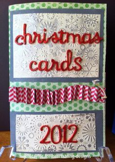 6x9christmas card keeper that i made using the heartstring designs january vintage wonder kit