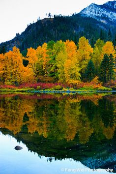 Fall: Jolanda Lake on the Wenatchee River.  20 miles from our house.