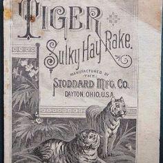 Dayton, tigers and rakes.  #typehunter #vintagebrand #ohioquality