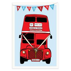 London Bus Wedding Invitation £1.25
