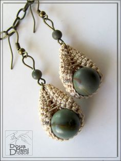 Grey+ideas+for+crochet | Gray beige earrings, Crochet Earrings, | Project Ideas