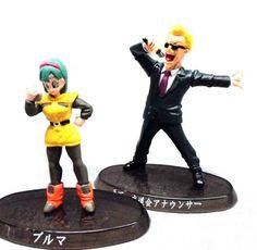 Dragon Ball Z Figure Soul of Hyper Figuration Namek Bulma & The Announcer #Bandai