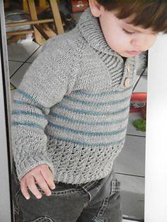 Knitting Patterns Boy Ravelry: Boy Sweater pattern by Lisa Chemery Baby Boy Sweater, Knit Baby Sweaters, Toddler Sweater, Boys Sweaters, Baby Knitting Patterns, Jumper Patterns, Knitting For Kids, Free Knitting, Crochet