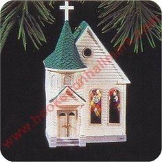Church, Nostalgic Houses & Shops Series Hallmark Ornament, 1995. I have this one.