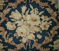 saving for art reference Vintage FRENCH Cotton CHINTZ Fabric Large by VintageClothesNJunk, $14.99
