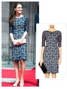 Kate Middleton blue lace Reiss dress | Get it for less: http://loveforlabels.wordpress.com/2013/01/03/somebodys-got-to-break-the-rules/
