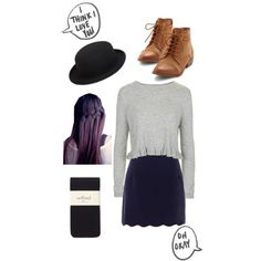 Casual peplum by nataliesky on Polyvore featuring Topshop, House of Holland, Comme des Garçons and Wilfred