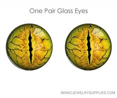 Glass Gold Reptile Eyes Glass Cabochons Eyes for Dolls Reptiles, Amphibians, Reptile Eye, Eye Texture, Dragons, Glass Dolls, Love Background Images, Make Photo, Human Body Parts