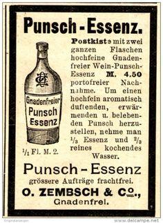 Original-Werbung/ Anzeige 1897 - GNADENFREIER PUNSCH - ESSENZ / ZEMBSCH - GNADENFREI - ca. 45 x 60 mm