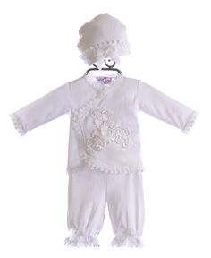 Katie Rose Designer Infant Outfit in White $79.00