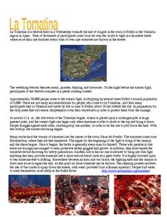 La Tomatina Cultural Lesson Great for Subs - World's Largest Food Fight! Spanish Teacher, Spanish Classroom, Teaching Spanish, Spanish Lesson Plans, Spanish Lessons, Spanish Activities, Writing Activities, Emergency Sub Plans, Spanish Holidays