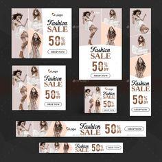 Fashion Banners Bundle - 10 Sets - 160 Banners #Bundle, #Banners, #Fashion, #Sets Ads Banner, Promotional Banners, Sale Logo, Fashion Banner, Web Banners, Display Ads, Social Media Banner, Google Ads, Fashion Sets