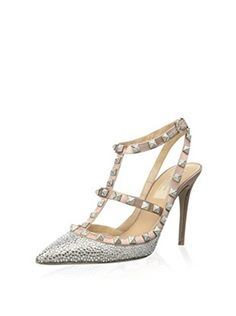 Valentino Women's Rockstud Sandal (Silver Taupe)
