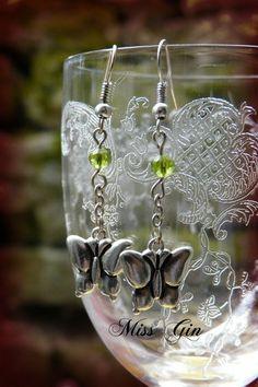 """Ohrhänger - """"schmetterlinge"""" ohrringe - ein Designerstück von Miss-Gin bei…"""