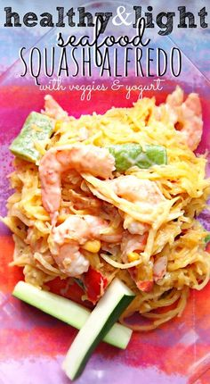 Healthy & Light Seafood Alfredo – Simply Taralynn