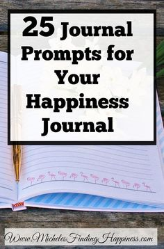 25 journal prompts for your happiness journal. If you love the idea of making a happiness journal, but get stuck finding things to write about. These 25 journal prompts will get your brain, and your pen moving. Journal Writing Prompts, Journal Inspiration, Journal Ideas, Journal Entries, Keeping A Journal, Happiness Project, Finding Happiness, Happiness Quotes, Self Improvement